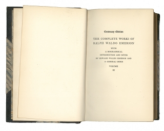 The Complete Works... With a Biographical Introduction and Notes by Edward Waldo Emerson