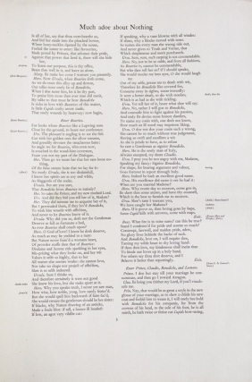 Proof Sheet for a Nonesuch Press edition in Folio of William Shakespeare. William Shakespeare
