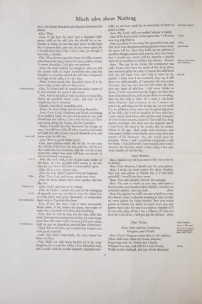 Proof Sheet for a Nonesuch Press edition in Folio of William Shakespeare