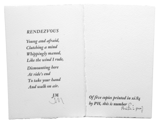 Rendezvous. James Merrill