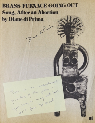 Brass Furnace Going Out. Song, After an Abortion. Diane Di Prima