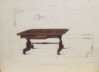 Rudiments of Drawing Cabinets and Upholstery Furniture . Illustrated by appropriate diagrams
