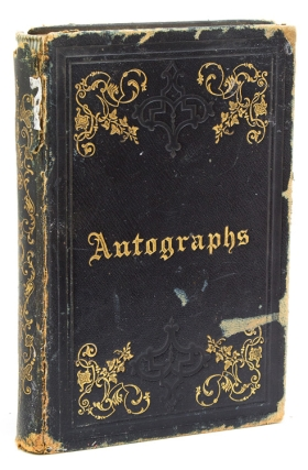 Autograph Book of Hon. George Gray from his Princeton Years, with the sentiments and signatures...