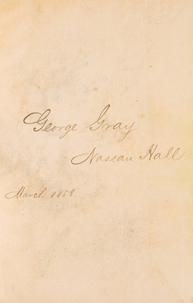 Autograph Book of Hon. George Gray from his Princeton Years, with the sentiments and signatures of fellow students from the classes of 1858, 59, and 60