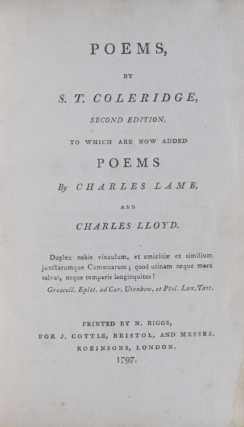 Poems … to Which are Now Added Poems by Charles Lamb and Charles Lloyd