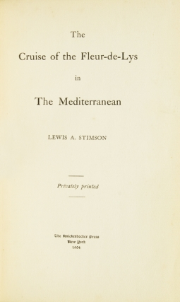 The Cruise of the Fleur-de-Lys in the Mediterranean