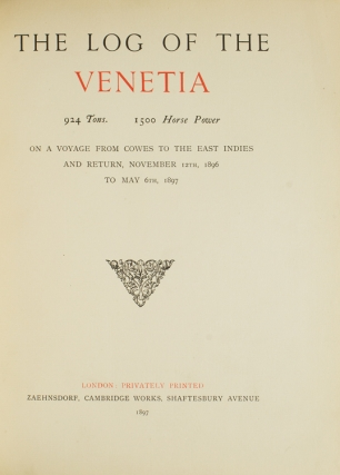 The Log of the Venetia on a voyage from Cowes to the East Indies