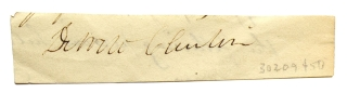 Clipped signature from a letter. Dewitt Clinton, Lawyer and Statesman.