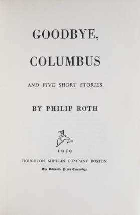 Goodbye, Columbus. And Five Short Stories