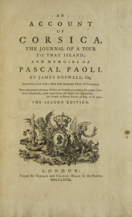 An Account of Corsica, The Journal of a Tour to that Island and memoirs of Pascal Paoli