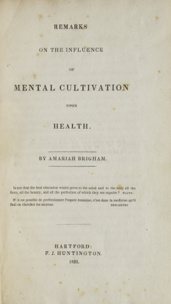 Remarks on the Influence of Mental Cultivation upon Health