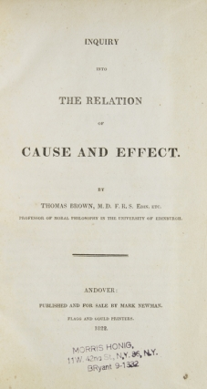An Inquiry into the Relation of Cause and Effect