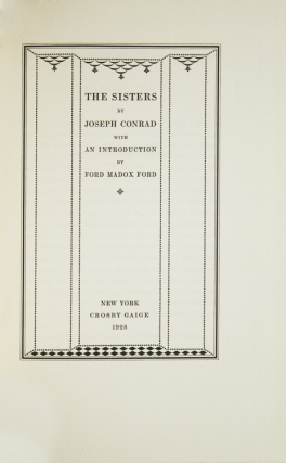 The Sisters. With an Introduction by Ford Madox Ford