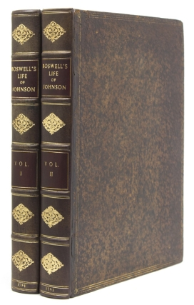 The Life of Samuel Johnson, LL.D … in Two Volumes. James Boswell