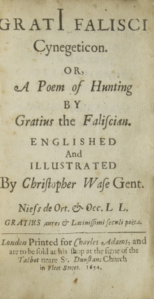 Cynegeticon. Or, A Poem of Hunting