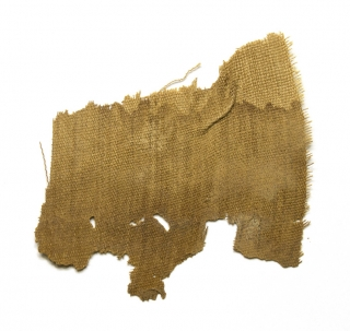 Mummy Cloth. Fragment with note on envelope containing it