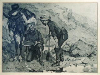 """Miners Prospecting for Gold"": artist's proof of the illustration for John Muir's Picturesque..."