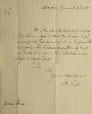 Autograph Letter, Signed, to Governor Ward