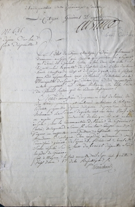 Manuscript Document Signed by General Adam Philippe, Comte de Custine, and Claude Blanchard....