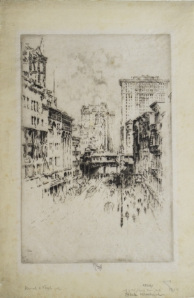 Etching: Forty-Second Street. Joseph Pennell