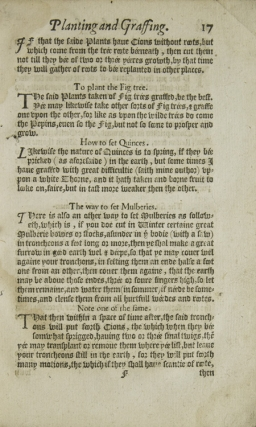 [A Booke of the Arte and Manner How to Plant and Graffe All Sorts of Trees …]