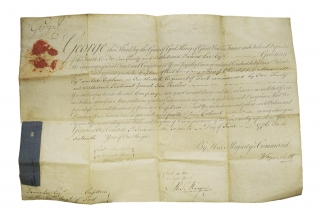 "Document Signed (""George R.). Military appointment of James Lee of the 30th Foot Regiment. George III."