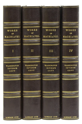 The Works of Nicolas Machiavel, Secretary of State to the Republic of Florence. Translated … by Ellis Farnesworth. Washington Irving, Nicolas Machiavelli.