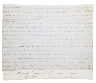 Autograph manuscript page: The Sea Lions; Or, The Lost Sealers. James Fenimore Cooper.