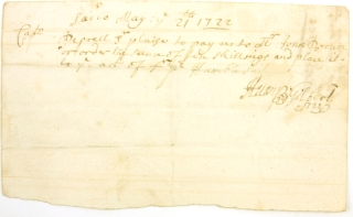 "Autograph Document, Signed (""Henry Gilbert""). To Capt. Pepperell. Henry Gilbert"