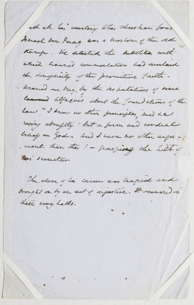 "Manuscript Page. Describing the death of Ismail ben Farog, Moorish leader in medieval Spain, from ""The Alhambra"" Washington Irving."