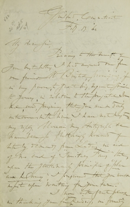 Autograph Letter, Signed. To H.(enry) T.(heodore) Tuckerman. Fitz-Greene Halleck