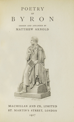 Poetry of Byron. Chosen and Arranged by Matthew Arnold