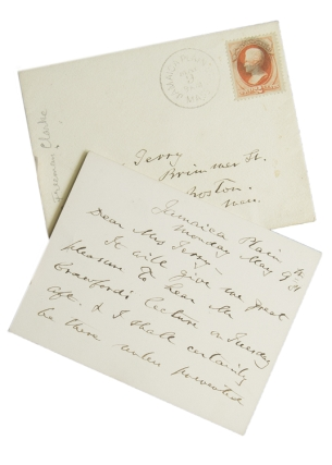 ANS. To Mrs Terry. Accepting invitation to Crawford's lecture