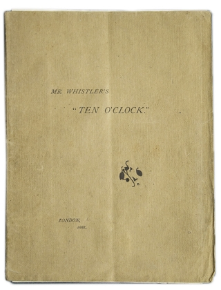 "Mr. Whistler's ""Ten O'Clock"""