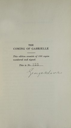 The Coming of Gabrielle. A Comedy