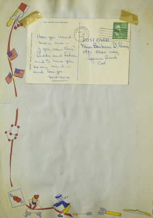Childhood srapbook of Barbara Davis (B.D.) Sherry, daughter of Bette Davis, documenting her first seven years