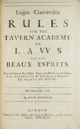 The Works of Ben Jonson, which were formerly Printed in Two Volumes, and are now Reprinted in One. To which is added a Comedy called the New Inn