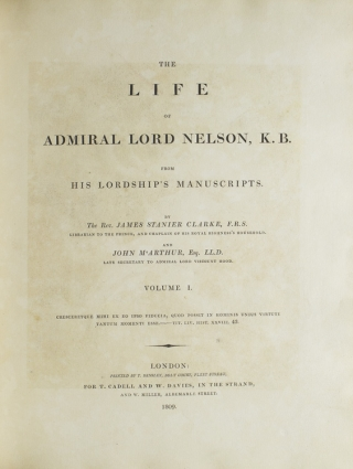 The Life of Admiral Lord Nelson, K.B. from his Lordship's Manuscripts