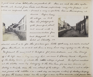 Manuscript journal of a bicycle tour in Devon and Cornwall, July - August 1904