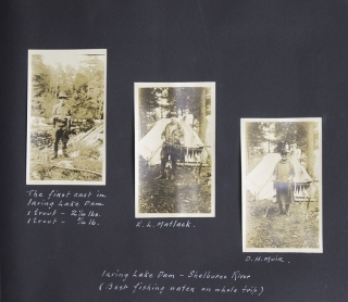 [Maine Photo Album: Trout Fishing at Loon Lake, ca. 1915]