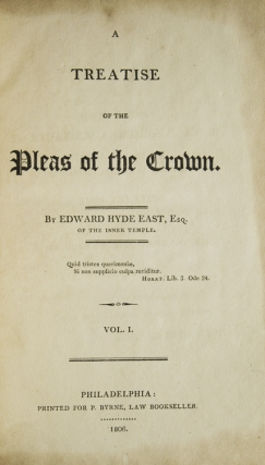 A Treatise of the Pleas of the Crown