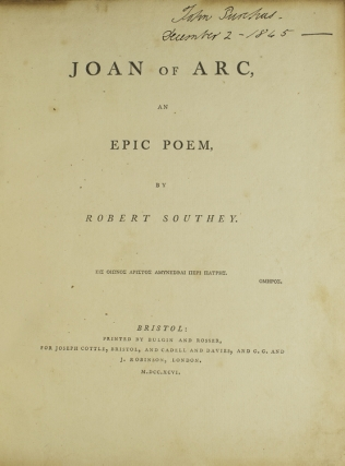 Joan of Arc, an Epic Poem