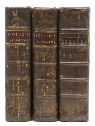 The Sermons of Mr. Yorick. [Volumes 1-4, and:] Sermons by the Late Rev. Mr. Sterne [Volumes 5-7]. Laurence Sterne.