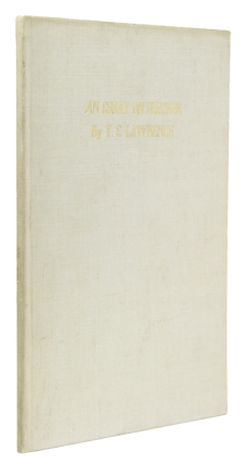 An Essay on Flecker. Corvinus Press, T. E. Lawrence.