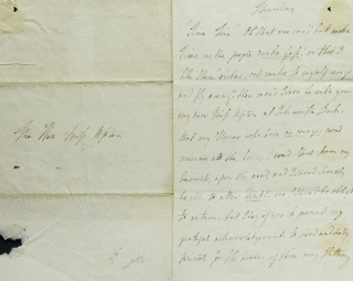 "Autograph Letter Signed (""S. Siddons,"") to ""The Hon. Miss [Sophia] Upton"", declining an..."