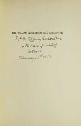 The William Robertson Coe Collection of Western Americana