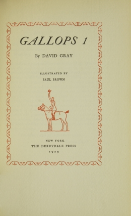 [The Hitchcock Edition of David Gray] Gallops 1, Gallops 2, Mr. Carteret