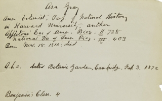 "Autograph letter signed (""Asa Gray""), addressed ""Dear Madam"" Asa Gray."