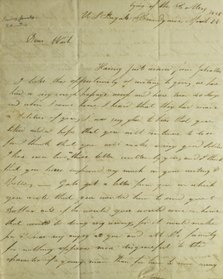 ALS of William Irving, to his brother Washington Irving, both nephews of the famous author. Irving family, Washington Irving.