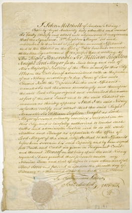 "Autograph Maunscript, Signed ""William Lyman Esq, Consul of the United States of America for the..."